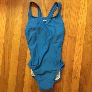 Nike girls blue swimsuit